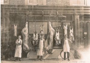 Adams' Butchers, 1 Rose Mount. The business moved here when it outgrew Claughton Firs premises. It is now the oldest established family business in Oxton