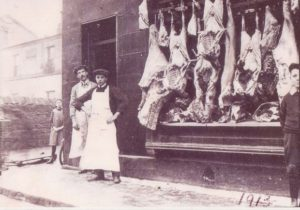 Adams' Butchers, 10 Claughton Firs. The business was started here c. 1909 by George Henry Adams