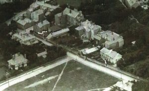 Fairclough Lane -aerial photo taken 1920 showing Fairclough Lane, end of Glenmore Road and Rose Cottage