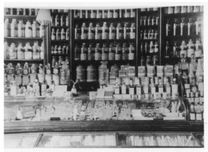 Said to be inside Wellington Road chemist shop, owned by several pharmacists over the years, including Arthur Ellithorne