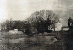 Duck pond on Fred Adams' poultry farm opposite the Halfway House
