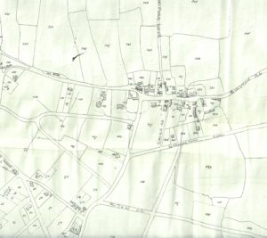 Tithe map, c. 1847, showing old Oxton Village around St Saviours and the Carnarvon Castle (its original spelling)